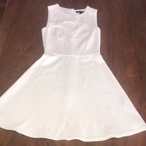 French Connection White A-line dress